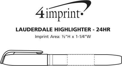 Imprint Area of Lauderdale Highlighter - 24 hr