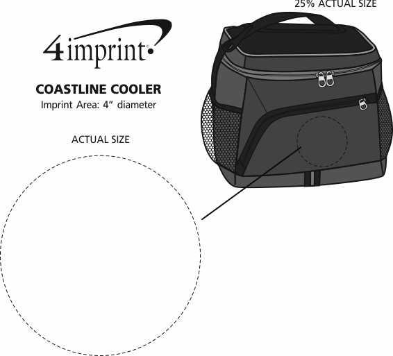 Imprint Area of Coastline Cooler - Embroidered