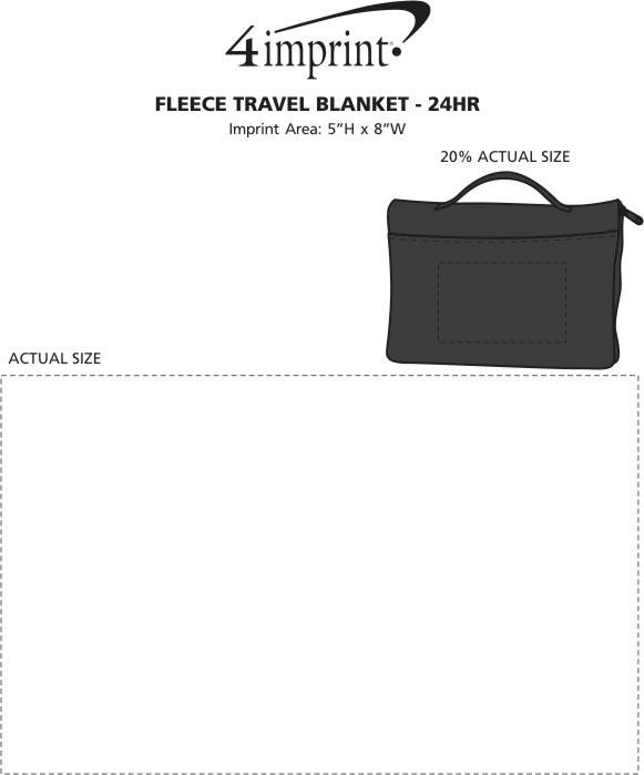 Imprint Area of Fleece Travel Blanket - 24 hr