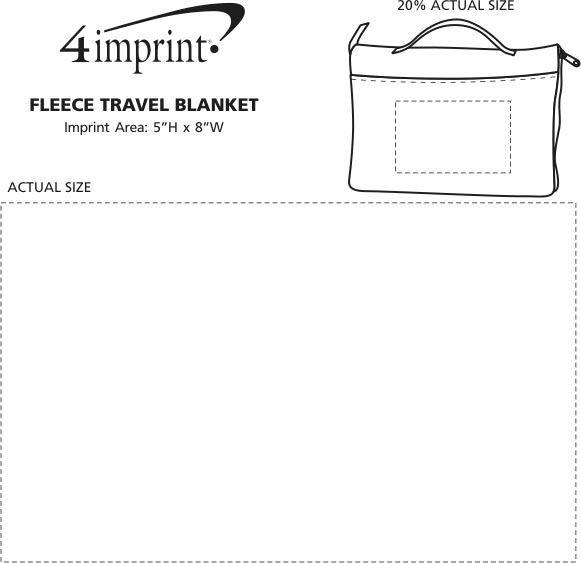 Imprint Area of Fleece Travel Blanket