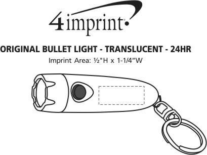 Imprint Area of Original Bullet Light - Translucent - 24 hr