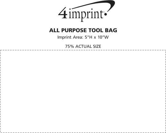 Imprint Area of All Purpose Tool Bag