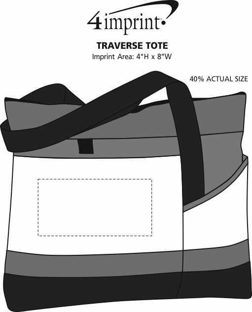 Imprint Area of Traverse Tote