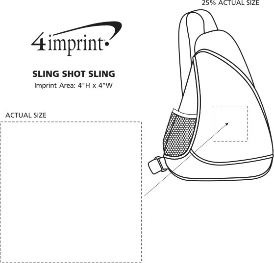 Imprint Area of Sling Shot Slingpack