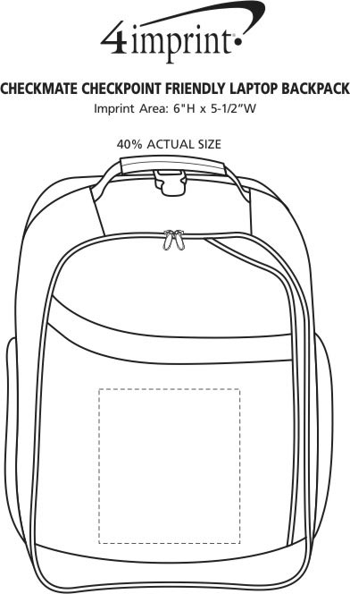 Imprint Area of Checkmate Checkpoint Friendly Laptop Backpack