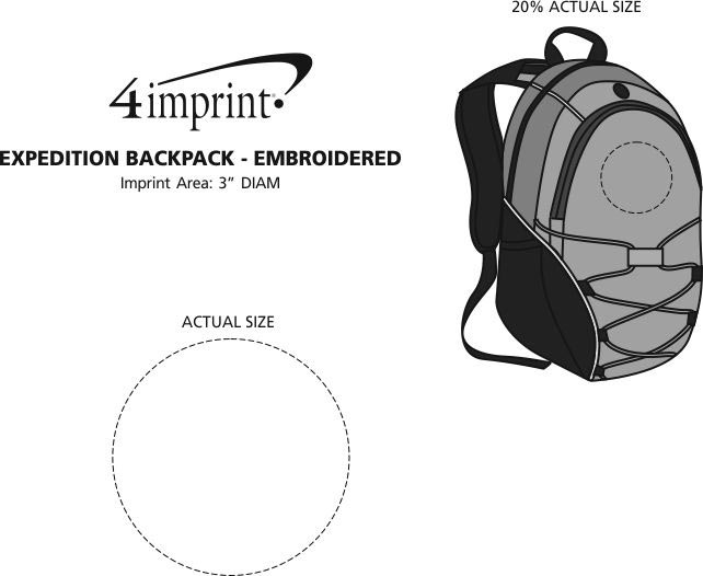 Imprint Area of Expedition Backpack - Embroidered