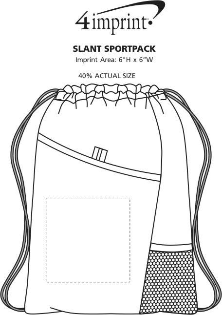 Imprint Area of Slant Sportpack
