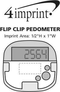 Imprint Area of Flip Clip Pedometer