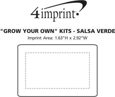 Imprint Area of Grow Your Own Kit - Salsa Verde