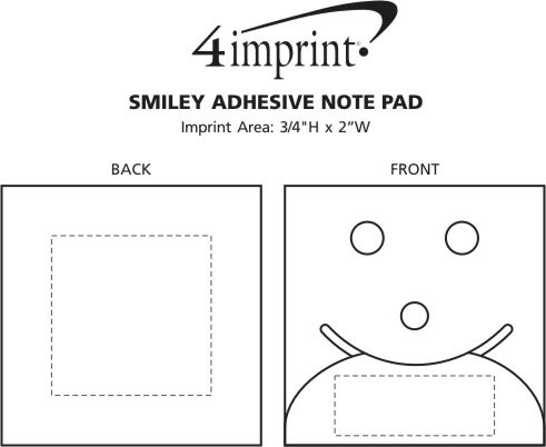 Imprint Area of Smiley Adhesive Notepad
