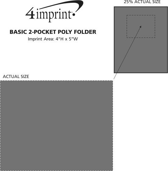 Imprint Area of Basic 2-Pocket Poly Folder