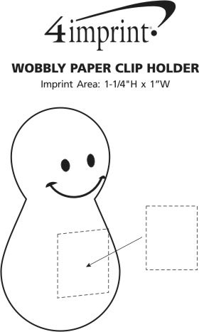 Imprint Area of Wobbly Paper Clip Holder