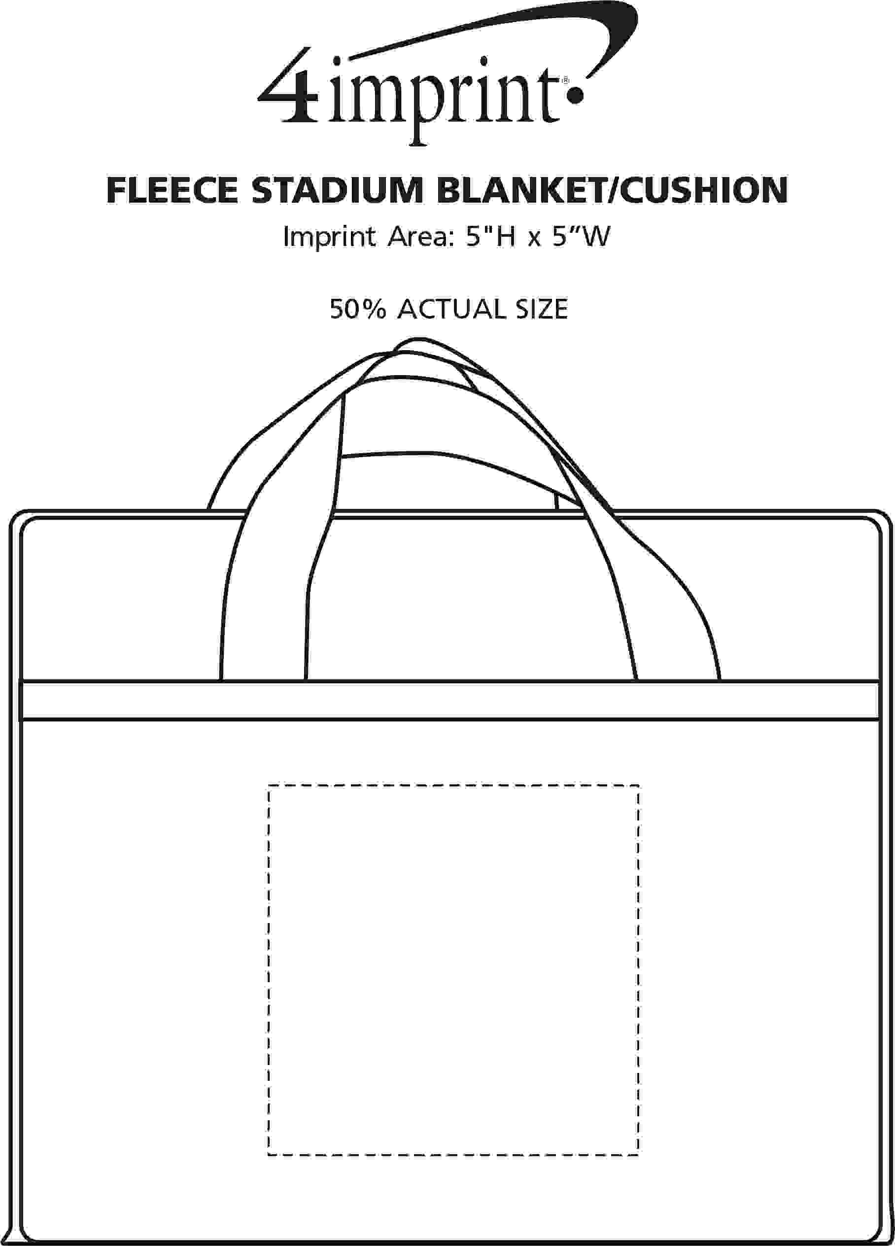 Imprint Area of Fleece Stadium Blanket/Cushion