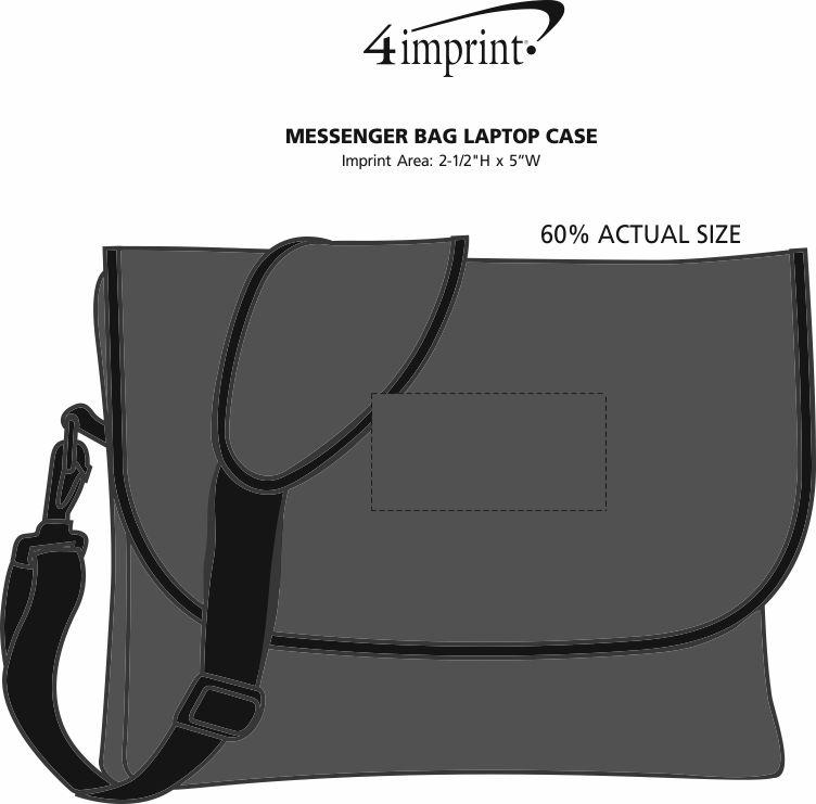 Imprint Area of Messenger Bag Laptop Case