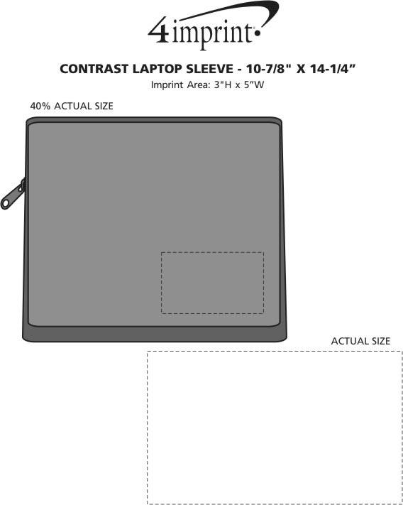 "Imprint Area of Contrast Laptop Sleeve - 10-7/8"" x 14-1/4"""