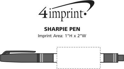 Imprint Area of Sharpie Marker Pen