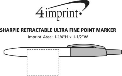 Imprint Area of Sharpie Retractable Ultra Fine Point Marker
