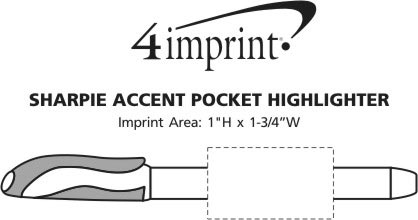 Imprint Area of Sharpie Accent Pocket Highlighter