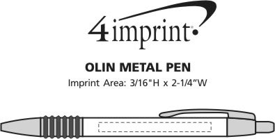 Imprint Area of Olin Metal Pen