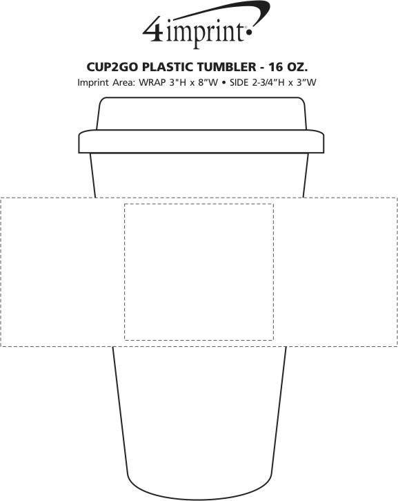 Imprint Area of cup2go Plastic Tumbler - 16 oz.