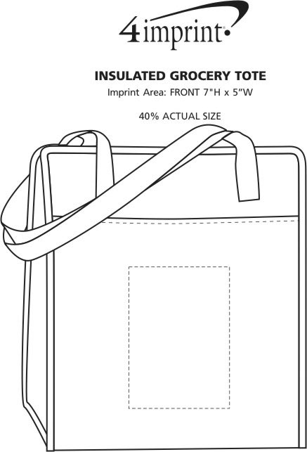 Imprint Area of Insulated Grocery Tote