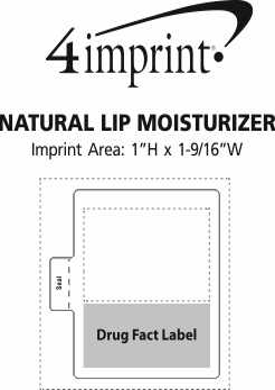 Imprint Area of Natural Lip Moisturizer