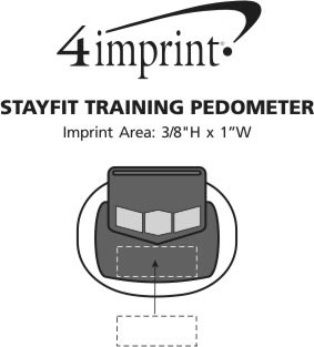 Imprint Area of StayFit Training Pedometer