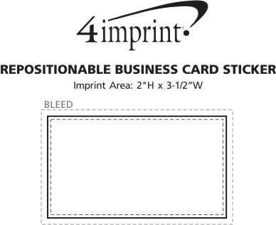 Imprint Area of Repositionable Sticker - Business Card