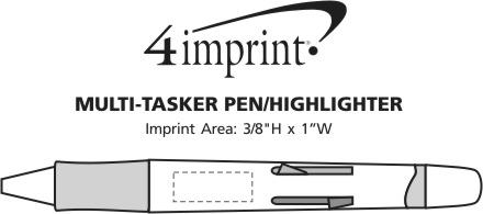 Imprint Area of Multitasker Pen/Highlighter