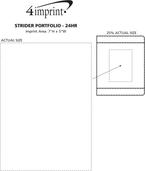 Imprint Area of Strider Portfolio - 24 hr