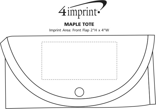 Imprint Area of Maple Tote