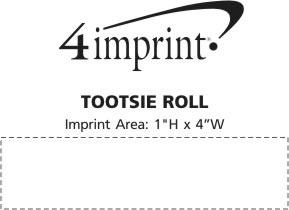 Imprint Area of Tootsie Roll
