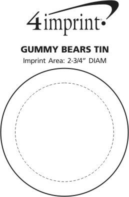 Imprint Area of Gummy Bears Tin