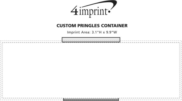 Imprint Area of Custom Pringles Container
