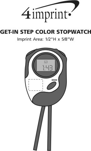 Imprint Area of Get-in Step Color Stopwatch