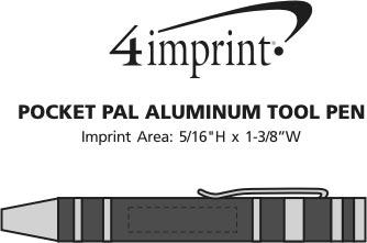 Imprint Area of Pocket Pal Aluminum Tool Pen