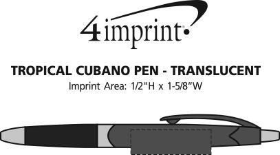 Imprint Area of Tropical Cubano Pen - Translucent