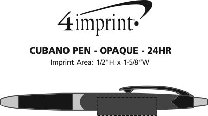 Imprint Area of Cubano Pen - Opaque - 24 hr