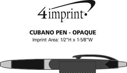 Imprint Area of Cubano Pen - Opaque