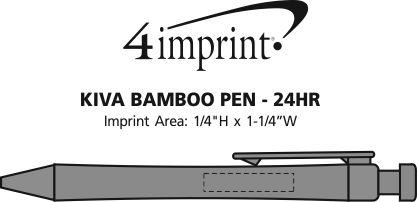 Imprint Area of Kiva Bamboo Pen - 24 hr
