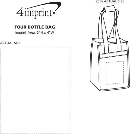 Imprint Area of Four Bottle Bag