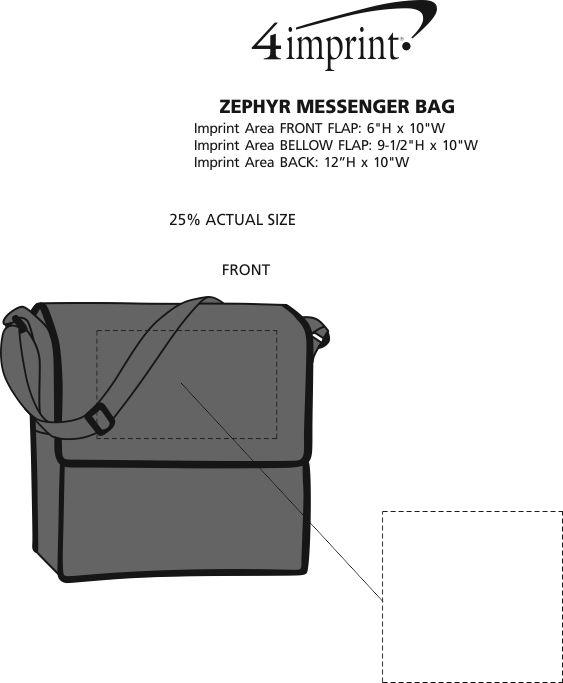Imprint Area of Zephyr Messenger Bag
