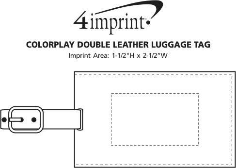 Imprint Area of Colorplay Double Leather Luggage Tag