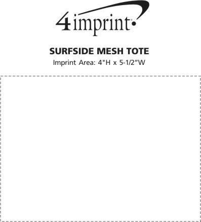 Imprint Area of Surfside Mesh Tote