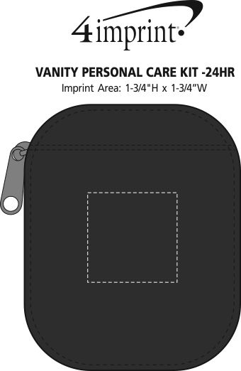 Imprint Area of Vanity Personal Care Kit - 24 hr