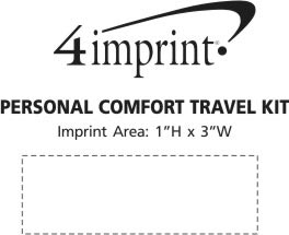 Imprint Area of Personal Comfort Travel Kit