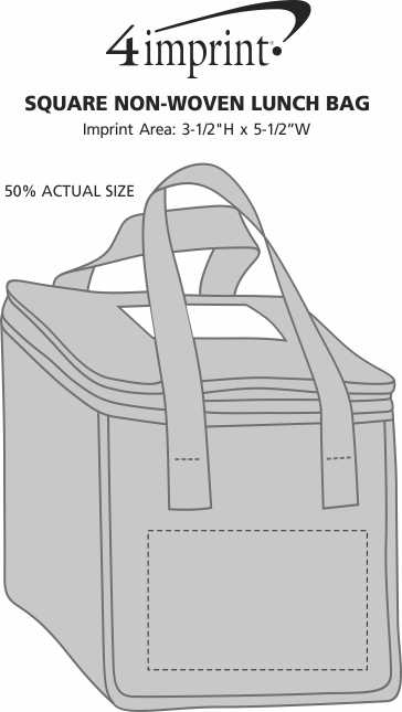 Imprint Area of Square Non-Woven Lunch Bag