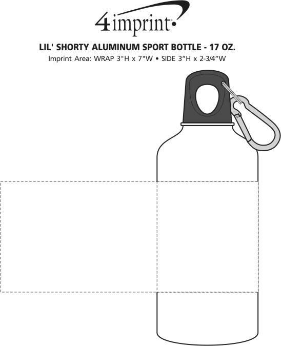 Imprint Area of Lil' Shorty Aluminum Sport Bottle - 17 oz.