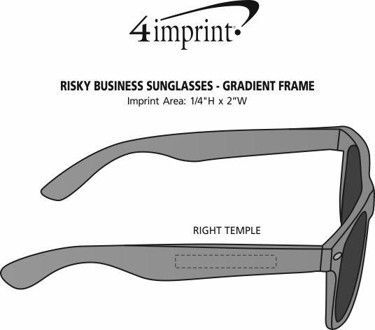 Imprint Area of Risky Business Sunglasses - Gradient Frame