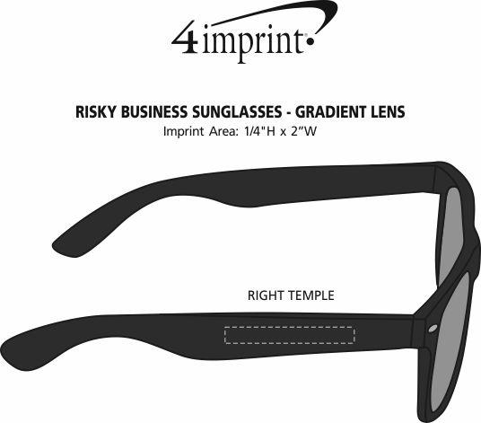 Imprint Area of Risky Business Sunglasses - Gradient Lens